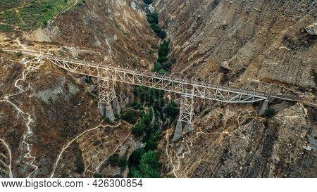 The Verrugas Bridge Or Carrion Bridge Is A Bridge Located In The Department Of Lima