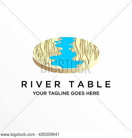 Table Free Logo Vector Stock. River Abstract Design Concept. Can Be Used As A Symbol Related To Inte