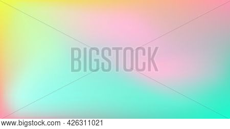 Abstract Blurred Green And Yellow Gradient Background Texture - Vector Illustration