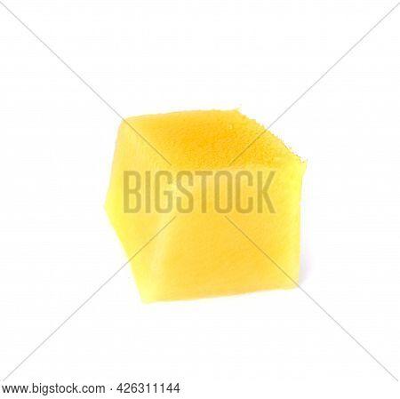 Slice Of Fresh Mango Isolated On White Background