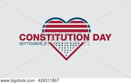 Constitution Day Federal Observance Observed On September Each Year. Banner, Poster, Card, Backgroun