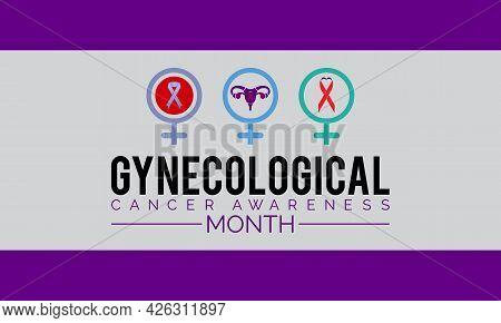 Gynecological Cancer Awareness Banner Design. Importance Of Bringing Awareness Cervical, Ovarian, Ut