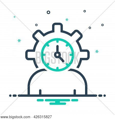 Mix Icon For Lifespan Clock Life-cycle People Degenerate Age