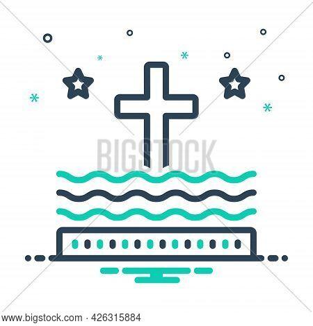 Mix Icon For Liturgy Ritual Catholic Religious Holy-sign Cross