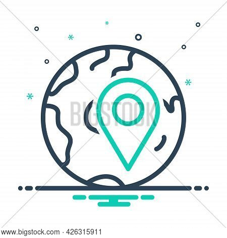 Mix Icon For Locally App Localization Navigation Pointer Location Gps