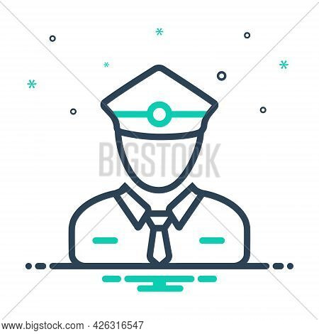 Mix Icon For Ticket-collector Ticket Collector Ticket-taker Checker Person