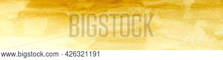 Horizontal Watercolor Background With Soft Transitions. Autumn Beige Warm Watercolor Background