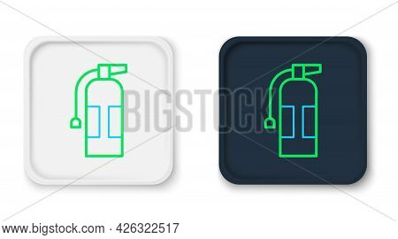Line Fire Extinguisher Icon Isolated On White Background. Colorful Outline Concept. Vector