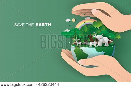 Earth Day. Eco Friendly Concept. Earth Day Concept. World Environment Day Background. Save The Earth