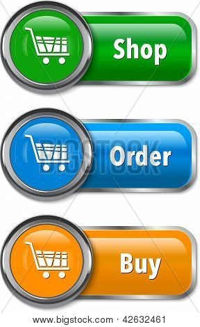 Colorful Web Elements For Online Shopping
