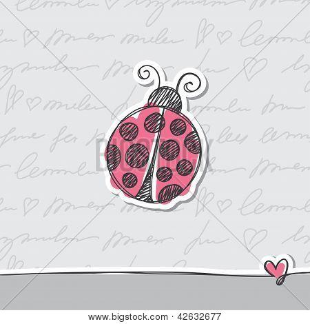 hand drawn card