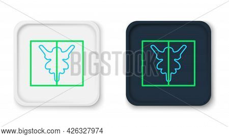 Line Rorschach Test Icon Isolated On White Background. Psycho Diagnostic Inkblot Test Rorschach. Col