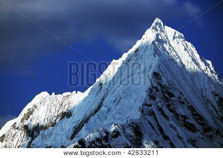 Alpine landscape in Cordiliera Blanca, Peru, South Amrica