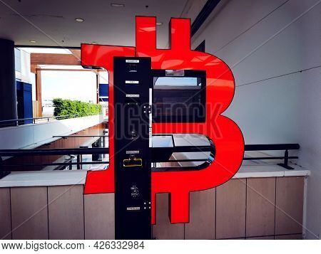 Bitcoin Atm Machine. Crypto Currency. Money Technology