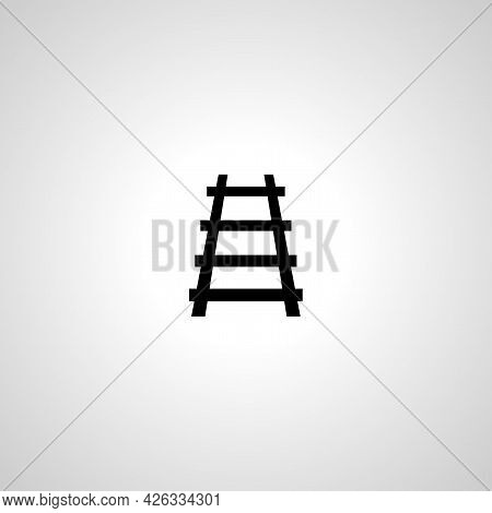 Rails Sign. Train Rails Isolated Simple Vector Icon