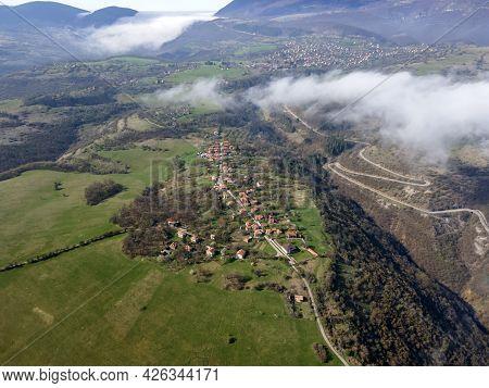 Aerial View Of Iskar River Gorge Near Village Of Milanovo, Balkan Mountains, Bulgaria