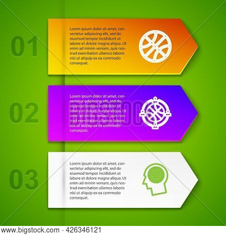 Set Line Basketball Ball, Planning Strategy, Thoughts On Basketball And . Business Infographic Templ