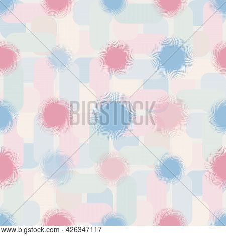 Pastel Geometric And Twisted Forms Vector Pattern