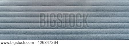 Mold And Mildew On Siding. Surface Old Gray Molded Board As A Texture Closeup. Lining. Clapboard Bac