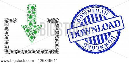 Infection Mosaic Download Icon, And Grunge Download Seal. Download Mosaic For Breakout Templates, An