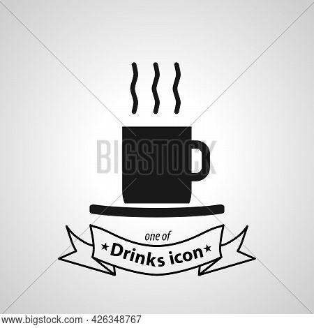 Coffee Cup Sign. Cup Of Coffee Isolated Simple Vector Icon