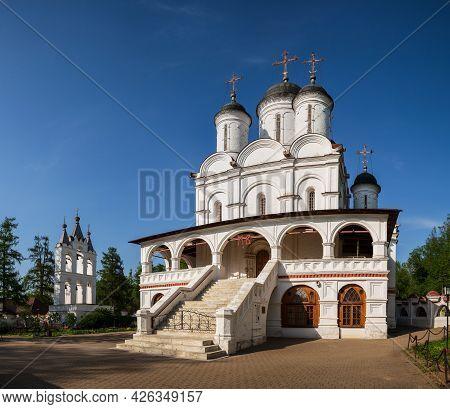 Church Of The Transfiguration Of The Savior With Belfry In Village Of Bolshiye Vyazemy, Moscow Regio