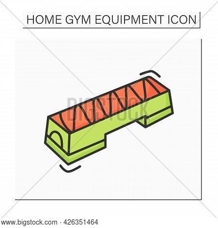 Aerobic Stepper Color Icon. Fitness Stepper Platform Gym Equipment. Concept Of Aerobics, Step Class