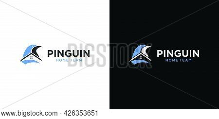 Unique And Modern Penguin House Logo Design With An Attractive And Attractive Appearance
