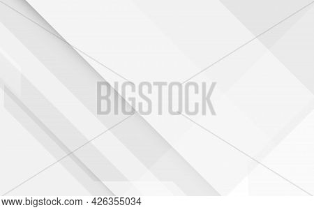 Abstract White Square Shape Geometric With Digital Hi Tech Concept Background Technology. Vector Ill