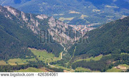 View Of A Rocky Mountain Pass. Vratna Dolina, Tiesnavy, Mala Fatra, Slovakia.