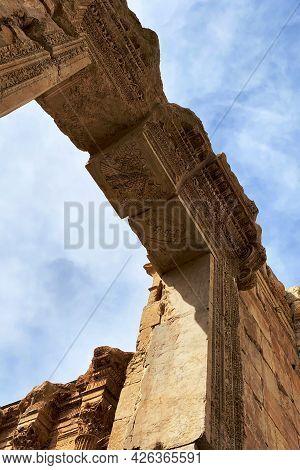 Ruins Of Jupiter Temple, Arch. Baalbeck, Lebanon