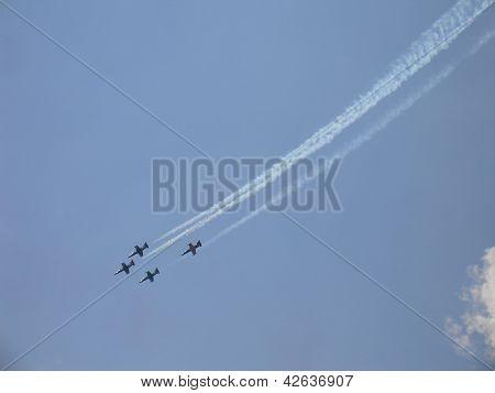 L-39 Russian Fighters In Sky