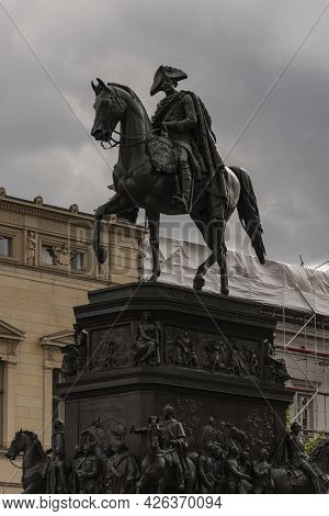 13 May 2019 Berlin, Germany -the Equestrian Statue Of King Frederick Ii Of Prussia (friedrich The Gr