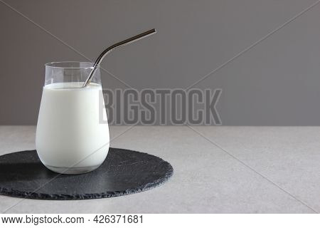 Milk On The Table. Vegan Or Vegetarian Milk. Vegetables Milk. Healthy Food Concept. Alternative Milk