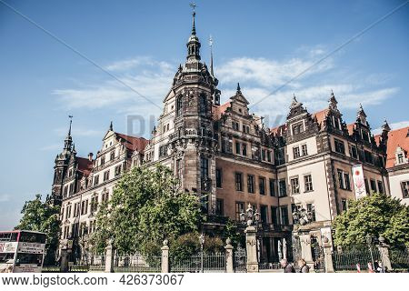 17 May 2019 Dresden, Germany - Dresden Castle is one of the most important examples of Renaissance a