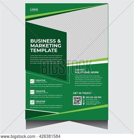 Green Simple Corporate Business Flyer Design Template