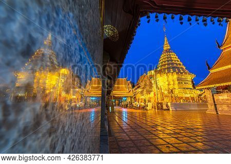 Wat Phra That Doi Suthep Is A Buddhist Temple Is A Major Tourist Attraction Is An Ancient Thai Art W