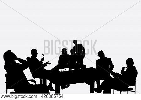 Business People Silhouette Set Of 7 Unique High-detailed Silhouettes Featuring Beautiful Models