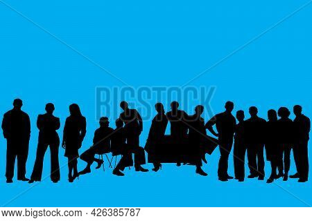 Business People Silhouette Set Of 15 Unique High-detailed Silhouettes Featuring Beautiful Models