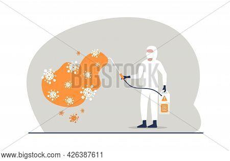 Covid-19 Coronavirus Disinfect, Clean And Kill Virus Pathogen Prevent Outbreak Spreading