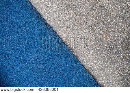 Gray Blue Marble Texture Floor Background. Old Dark Cement Concrete Construction Pattern.  Limestone