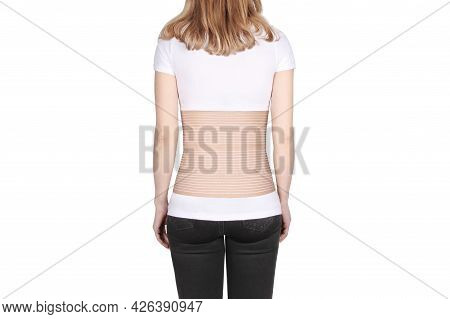 Stoma. Postoperative Orthopedic Bandage With Stoma Opening Hole. Bandages For Ostomy Patients. Unise