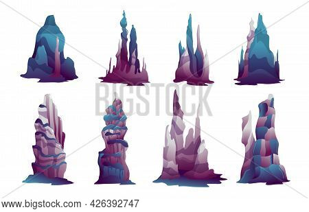 Peculiar Shape Stalagmites Mineral Formations Growing On Underwater Caverns Karst Caves Bottom Reali