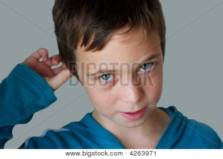 Boy Confused About Something