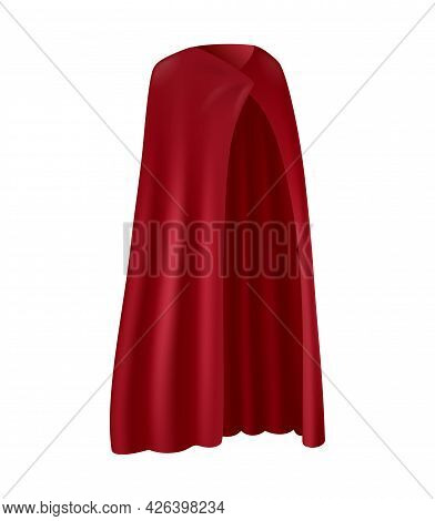 Realistic Red Robe With Folds Vector Illustration
