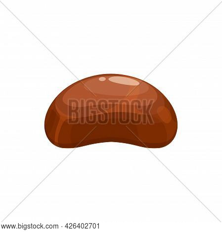 Candy, Chocolate Dessert And Sweet Food Vector Isolated Icon. Milk Chocolate Snack Treat Of Truffle