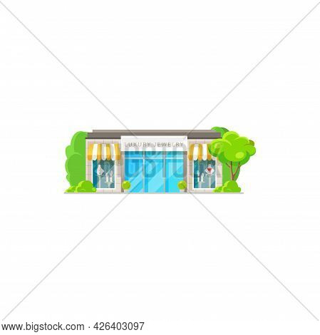 Womens Clothing Store Isolated Shop Exterior Flat Cartoon Design. Vector Bright Colorful Facade, Fas