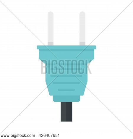 Wire Plug Icon. Flat Illustration Of Wire Plug Vector Icon Isolated On White Background