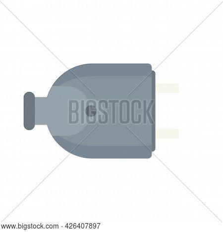 House Electric Plug Icon. Flat Illustration Of House Electric Plug Vector Icon Isolated On White Bac