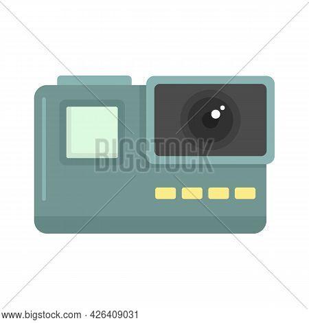 Extreme Action Camera Icon. Flat Illustration Of Extreme Action Camera Vector Icon Isolated On White